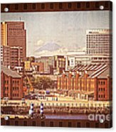 Historical Red Brick Warehouses Acrylic Print by Beverly Claire Kaiya
