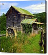 Historical Whites Mill Acrylic Print by Karen Wiles