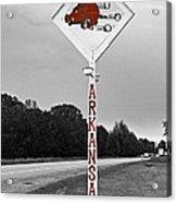 Hog Sign Acrylic Print by Scott Pellegrin