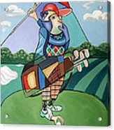Hole In One Acrylic Print by Anthony Falbo