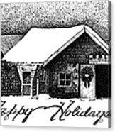 Holiday Barn Acrylic Print by Joy Bradley