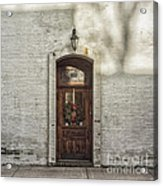 Holiday Door Acrylic Print by Terry Rowe