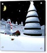 Holiday Falling Star Acrylic Print by Cynthia Decker