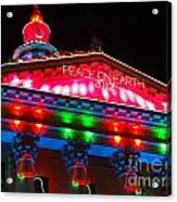 Holiday Lights 2012 Denver City And County Building L1 Acrylic Print by Feile Case