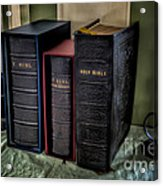 Holy Bibles Acrylic Print by Adrian Evans