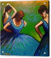 Homage To Degas II Acrylic Print by John  Nolan