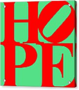 Hope 20130710 Red Green Acrylic Print by Wingsdomain Art and Photography