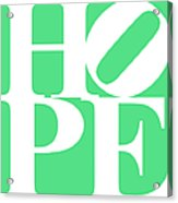 Hope 20130710 White Green Acrylic Print by Wingsdomain Art and Photography