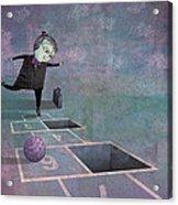 Hopscotch2 Acrylic Print by Dennis Wunsch