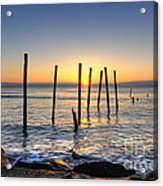 Horizon Sunburst Acrylic Print by Michael Ver Sprill