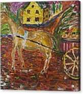 Horse And Cart Acrylic Print by Dozel Lake