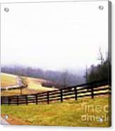 Horse Farm In Rocky Mt Va Acrylic Print by Angelia Hodges Clay