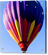 Hot Air Ballooning In Vermont Acrylic Print by Edward Fielding