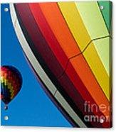 Hot Air Balloons Quechee Vermont Acrylic Print by Edward Fielding