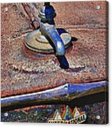 Hot Faucet Hood Ornament Acrylic Print by Garry Gay