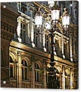 Hotel De Ville In Paris Acrylic Print by Elena Elisseeva