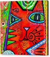 House Of Cats Series - Bops Acrylic Print by Moon Stumpp