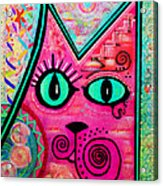 House Of Cats Series - Catty Acrylic Print by Moon Stumpp