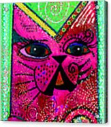 House Of Cats Series - Glitter Acrylic Print by Moon Stumpp