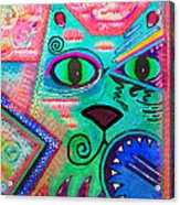 House Of Cats Series - Spike Acrylic Print by Moon Stumpp