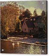House On The River Acrylic Print by Amanda And Christopher Elwell