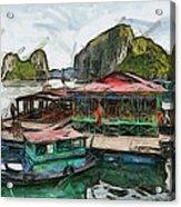 House On The Sea Acrylic Print by Teara Na