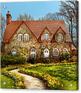 House - Westfield Nj - The Estates  Acrylic Print by Mike Savad