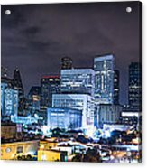 Houston City Lights Acrylic Print by David Morefield