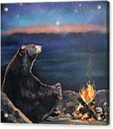 How Grandfather Bear Created The Stars Acrylic Print by J W Baker
