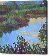 Huckleberry Line Trail Rain Pond Acrylic Print by Kendall Kessler