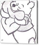 Huggable Pooh Bear Acrylic Print by Melissa Vijay Bharwani