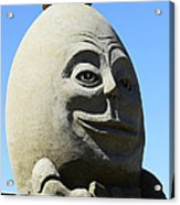 Humpty Dumpty Sand Sculpture Acrylic Print by Bob Christopher