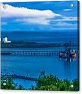 Hunterston Deep Water Terminal Ayrshire Acrylic Print by Tylie Duff