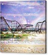 Hurricane Sandy Jetstar Roller Coaster Fantasy Acrylic Print by Jessica Cirz