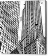 Hyatt And Chrysler Acrylic Print by David Bearden