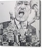 I Have A Dream Martin Luther King Acrylic Print by Joshua Morton
