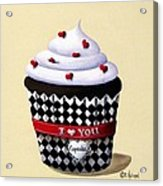 I Love You Cupcake Acrylic Print by Catherine Holman