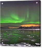 Ice And Auroras Acrylic Print by Frank Olsen