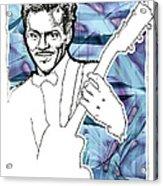 Icons- Chuck Berry Acrylic Print by Jerrett Dornbusch