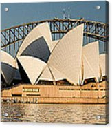 Icons One And Two - Sydney Australia. Acrylic Print by Geoff Childs