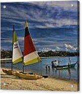 Idyllic Thai Beach Scene Acrylic Print by David Smith