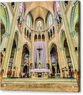 Iglesia De San Isidro De Coronado In Costa Rica Vertical Acrylic Print by Andres Leon