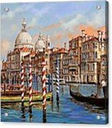 Il Canal Grande Acrylic Print by Guido Borelli