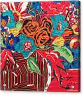 Ilana's Flower Arangement Acrylic Print by Diane Fine