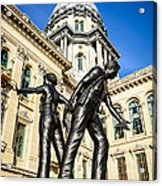 Illinois Police Officers Memorial In Springfield Acrylic Print by Paul Velgos