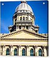 Illinois State Capitol In Springfield Acrylic Print by Paul Velgos