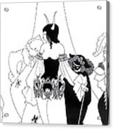 Illustration For The Masque Of The Red Death Acrylic Print by Aubrey Beardsley