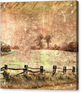 Imaginary Morning On The Blue Ridge II Acrylic Print by Dan Carmichael