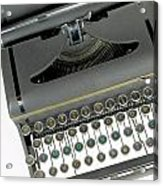 Imagination Typewriter Acrylic Print by Rudy Umans
