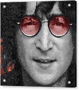 Imagine John Lennon  Acrylic Print by Tony Rubino